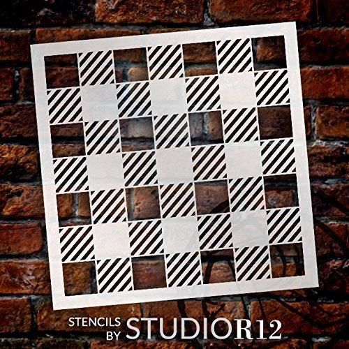 Buffalo Plaid Checks Pattern Stencil - Choose Size