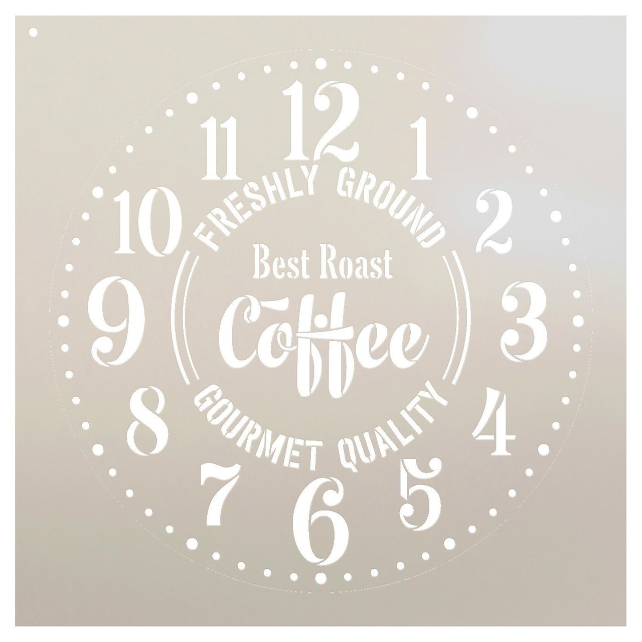 """Provincial Round Coffee Clock Stencil - DIY Painting Rustic Wood Clocks Small to Extra Large for Farmhouse Country Home Decor - Select Size (22"""" (2 Parts))"""