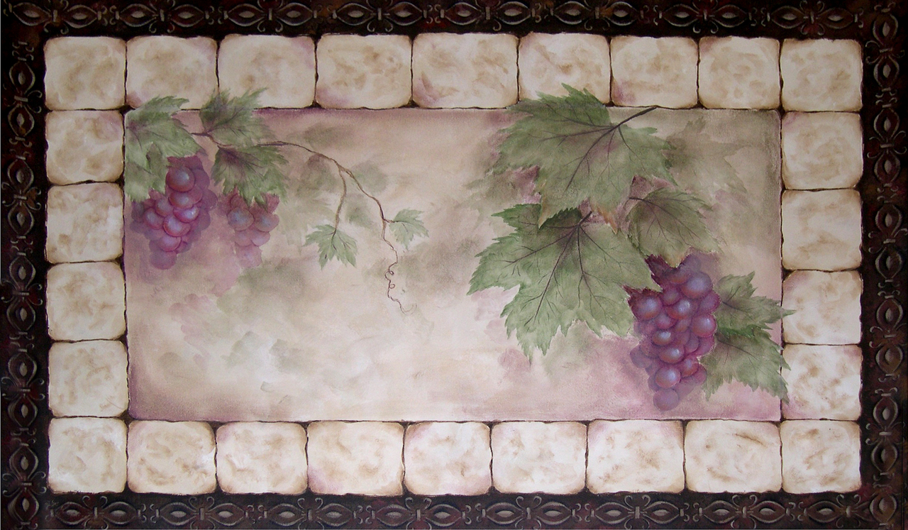 Tuscan Grapes Floor Cloths Pattern Packet - Patricia Rawlinson