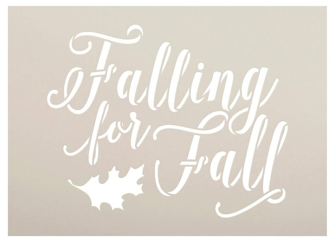 Falling For Fall Stencil By Studior12 Script Letters Reusable