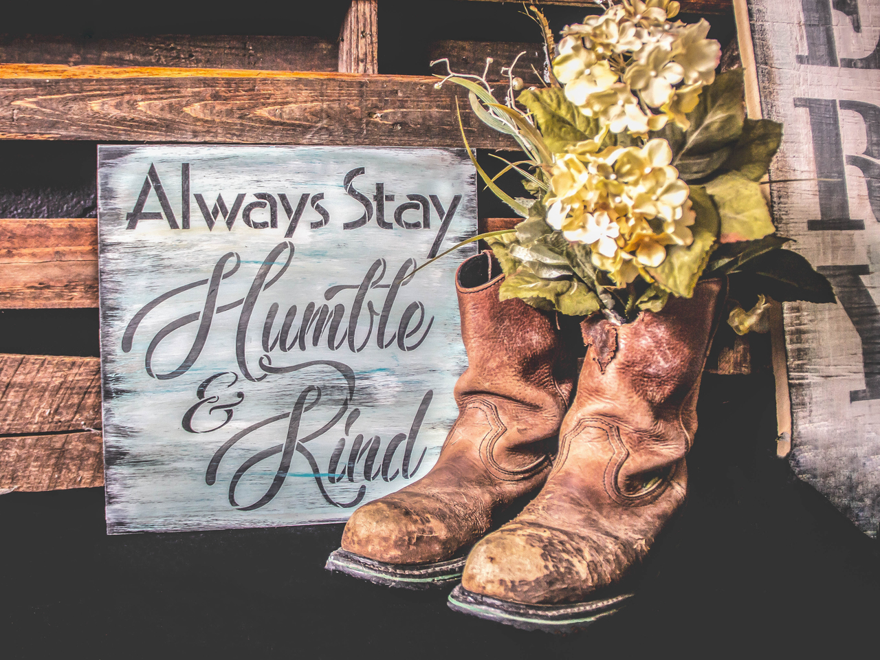 Always Stay Humble and Kind Stencil Square Design by StudioR12 Reusable Word Template for Painting on Wood Signs Inspirational DIY Farmhouse Journaling Chalk Mixed Media Select Size
