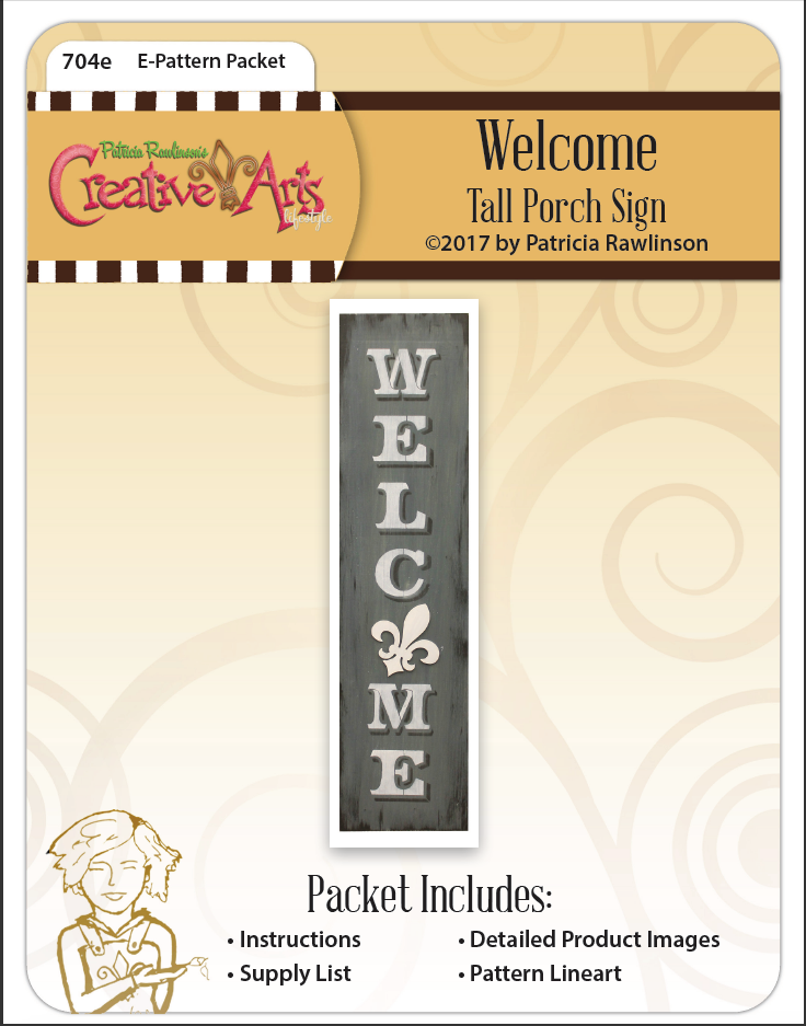 Welcome Tall Porch Sign E-Packet - Patricia Rawlinson