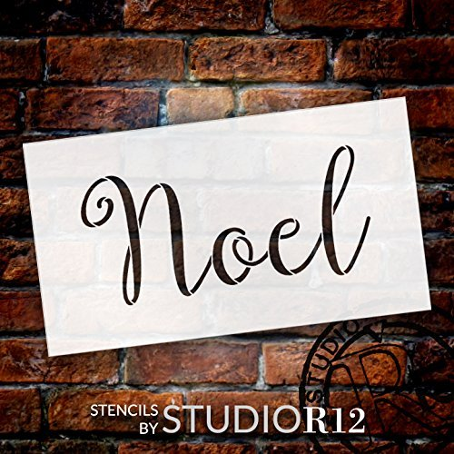 Noel Stencil by StudioR12 | Reusable Mylar Template | Use for Painting Signs - Cards - Ornaments - Script - French - DIY Christmas Decor - Select SizeSTCL2196