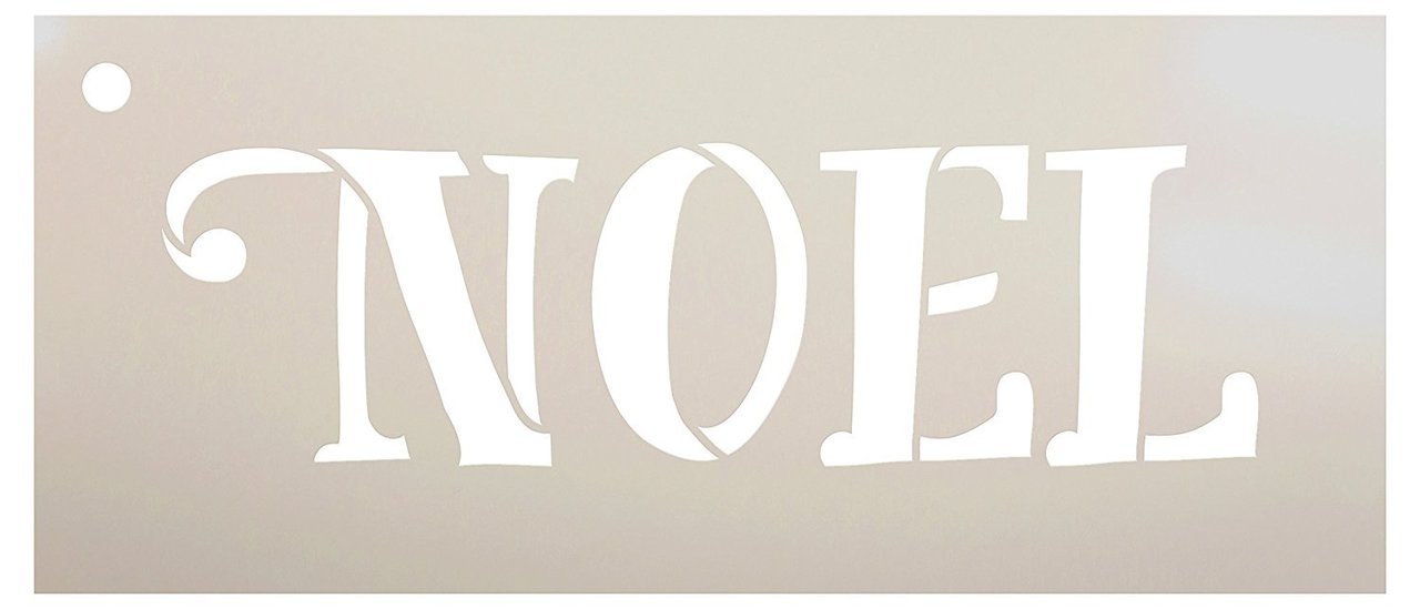 Noel Stencil by StudioR12 | Reusable Mylar Template | Use for Painting Signs - Cards - Ornaments - DIY French Christmas Decor - Select Size