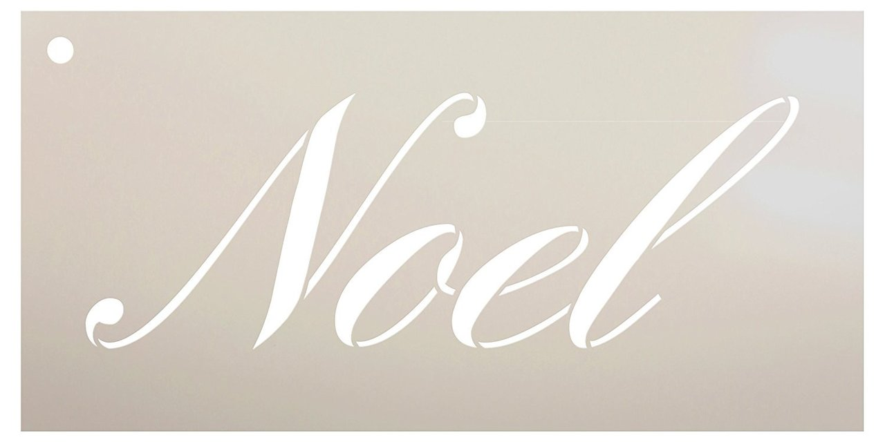 Noel Stencil by StudioR12 | Reusable Mylar Template | Use for Painting Wood Signs - Pillows - Cards - Ornaments - DIY Christmas Decor - Select Size