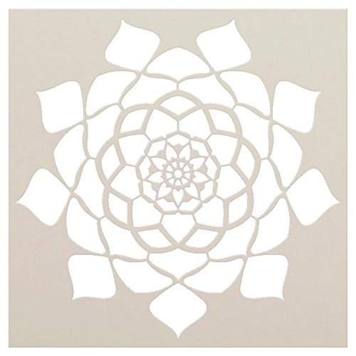 Mandala - Hypnotic - Complete Stencil by StudioR12 | Reusable Mylar Template | Use to Paint Wood Signs - Pallets - Pillows - Wall Art - Floor Tile - Select Size