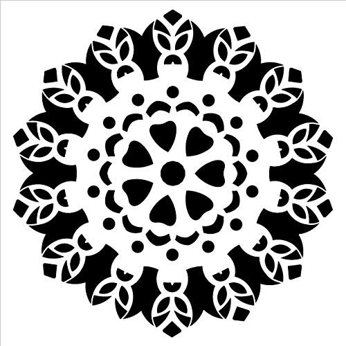 Mandala - Tiki - Complete Stencil by StudioR12 | Reusable Mylar Template | Use to Paint Wood Signs - Pallets - Pillows - Wall Art - Floor Tile - Select Size