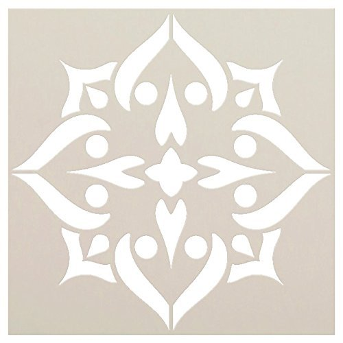 Mandala - Spades - Complete Stencil by StudioR12 | Reusable Mylar Template | Use to Paint Wood Signs - Pallets - Pillows - Wall Art - Floor Tile - Select Size