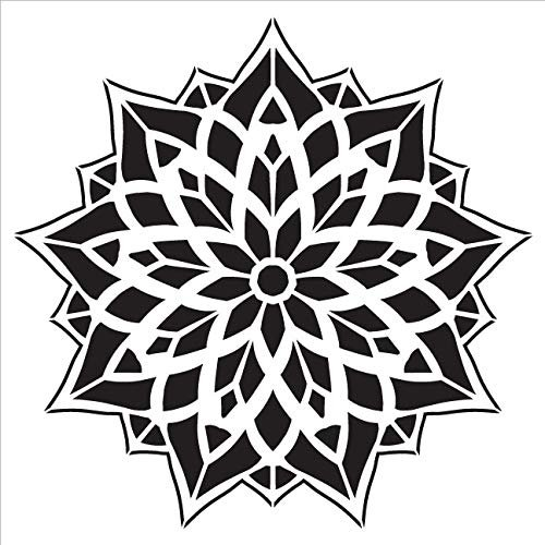 Mandala - Glass - Complete Stencil by StudioR12 | Reusable Mylar Template | Use to Paint Wood Signs - Pallets - Pillows - Wall Art - Floor Tile - Select Size