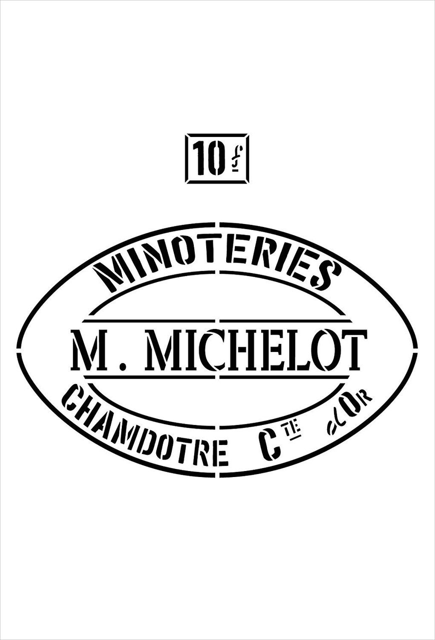 M. Michelot Feed Sack Art Stencil by StudioR12 | Reusable Mylar Template | Use to Paint Wood Signs - Pallets - Feed Sack - DIY Country Decor - Select Size