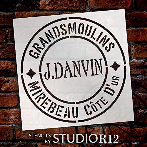 J. Danvin Feed Sack Art Stencil by StudioR12 | Reusable Mylar Template | Use to Paint Wood Signs - Pallets - Feed Sack - DIY Country Decor - Select Size