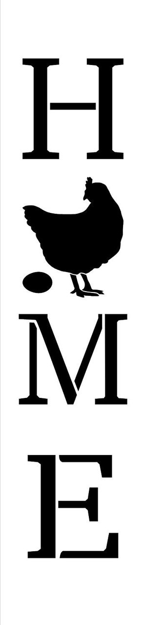 photo regarding Chicken Stencil Printable identified as Property with Chook - Fowl Egg - Vertical Stencil via StudioR12 Reusable Mylar Template Employ the service of in the direction of Paint Picket Signs and symptoms - Pallets - Banners - Do it yourself State