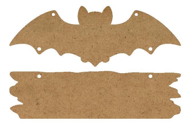 """Bat & Plaque Surface Set - 2 Piece - 14.8"""" x 9.7"""" - WDSF1424_2"""