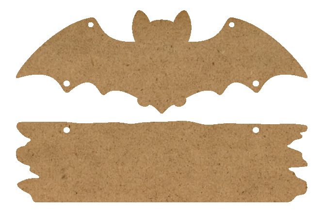 "Bat & Plaque Surface Set - 2 Piece - 25.9"" x 17.1"" - WDSF1424_5"