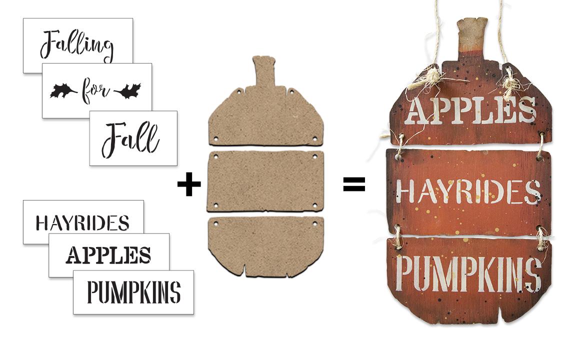 Pumpkin Sign Surface & Stencil Set - Small - CMBN404_1