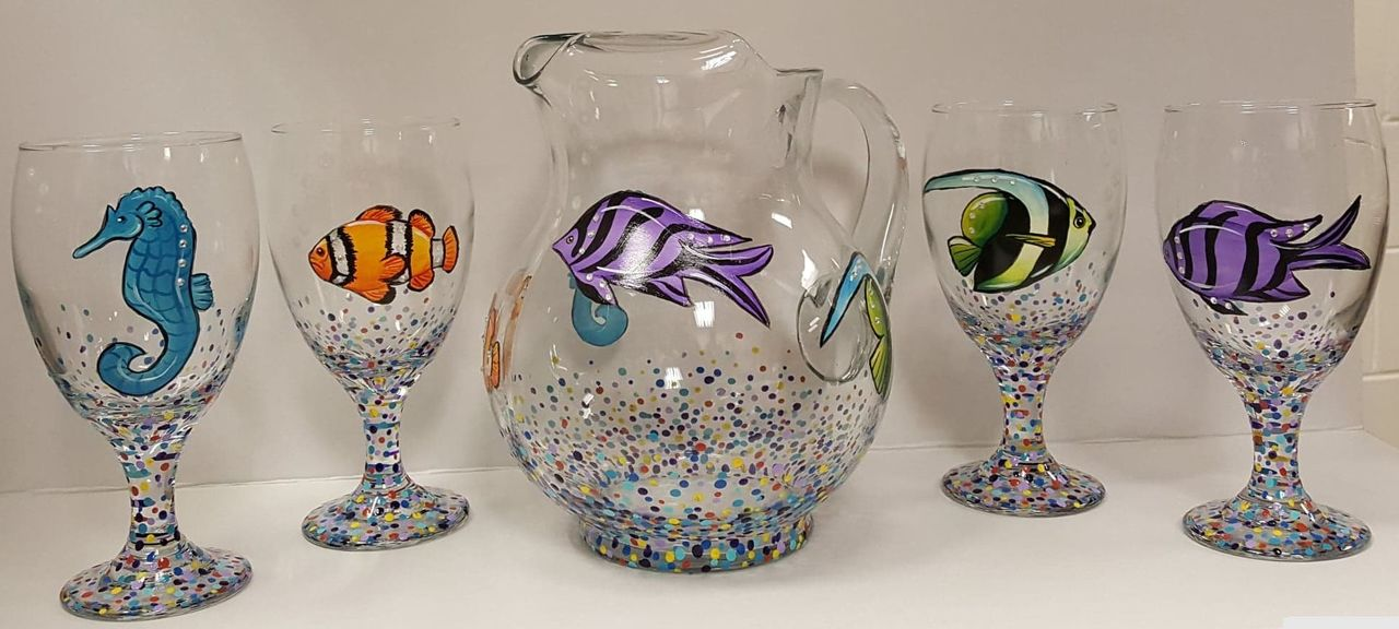 Bubbles and Bling Glass Painting - E-Packet - Wendy Fahey