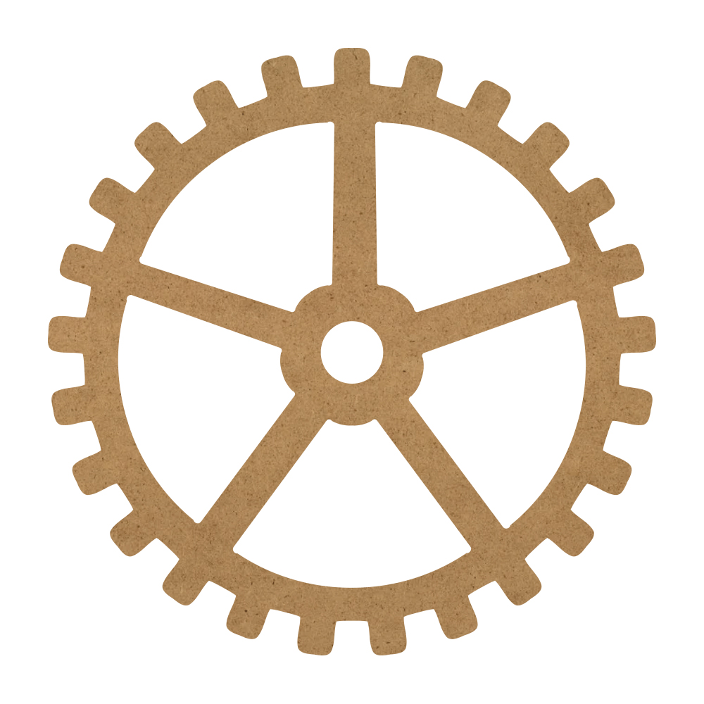 """Simple Gear Wood Surface - 15"""" x 15"""" - WDSF1411_4"""