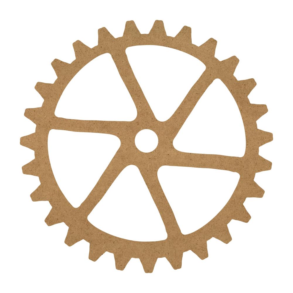 "Six Sprocket Gear Wood Surface - 16"" x 16"" - WDSF1412_5"