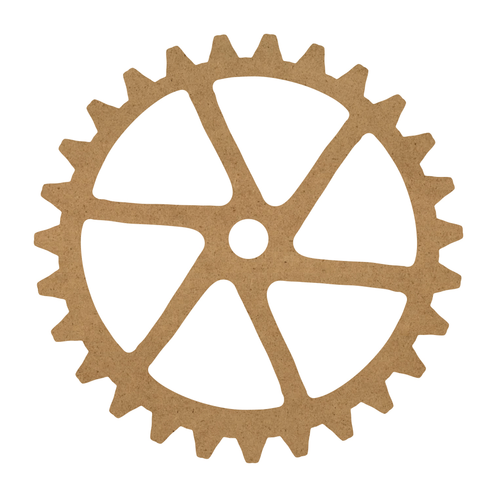 "Six Sprocket Gear Wood Surface - 18"" x 18"" - WDSF1412_7"