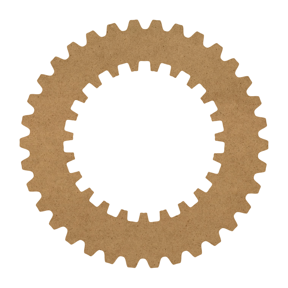 "Spur Gear Wood Surface - 13"" x 13"" - WDSF1413_2"