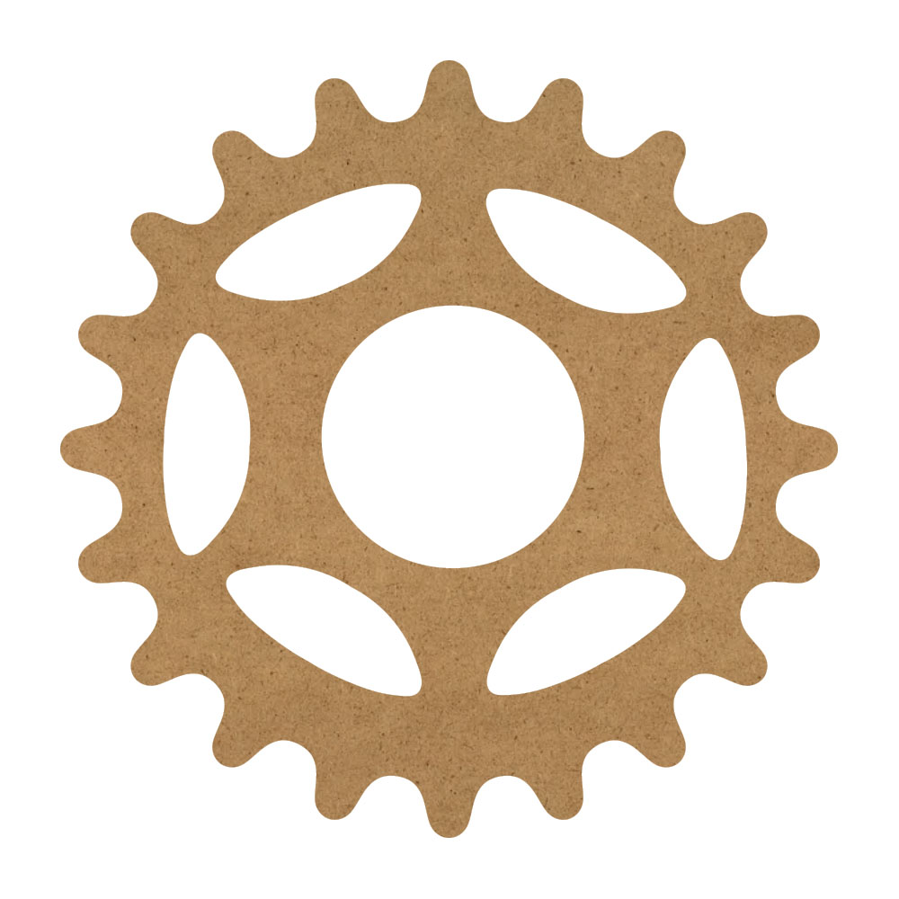 """Victorian Gear Wood Surface - 13"""" x 13"""" - WDSF1414_2"""