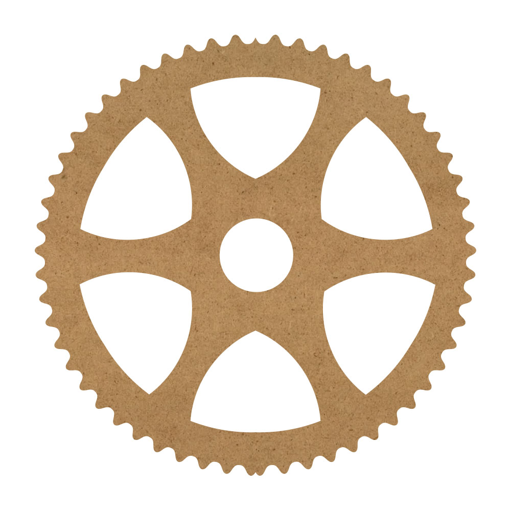"Sawtooth Gear Wood Surface - 16"" x 16"" - WDSF1415_5"