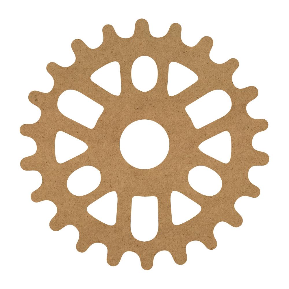 "Steampunk Gear Wood Surface - 17"" x 17"" - WDSF1419_6"