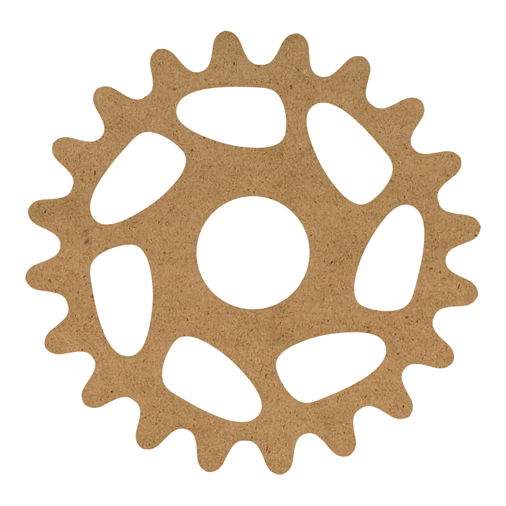"Scalloped Gear Wood Surface - 13"" x 13"" - WDSF1420_2"
