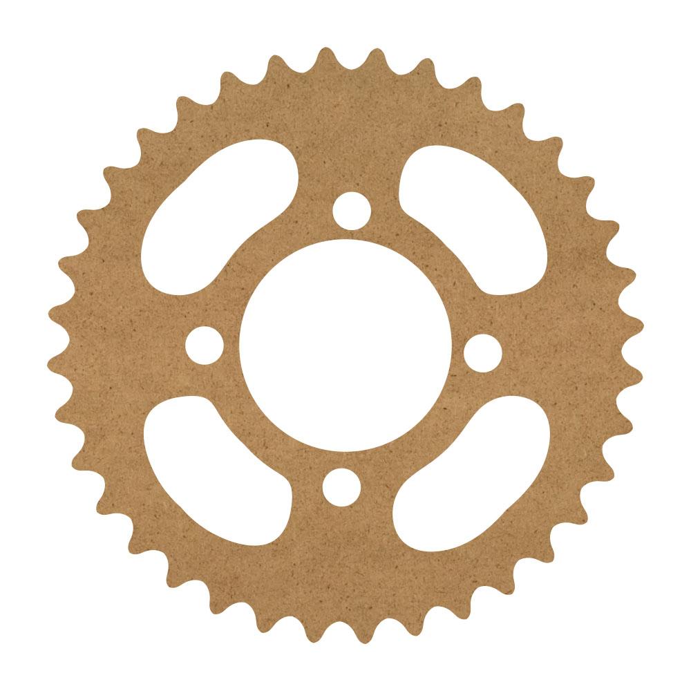 "Mechanical Gear Wood Surface - 12"" x 12"" - WDSF1416_1"