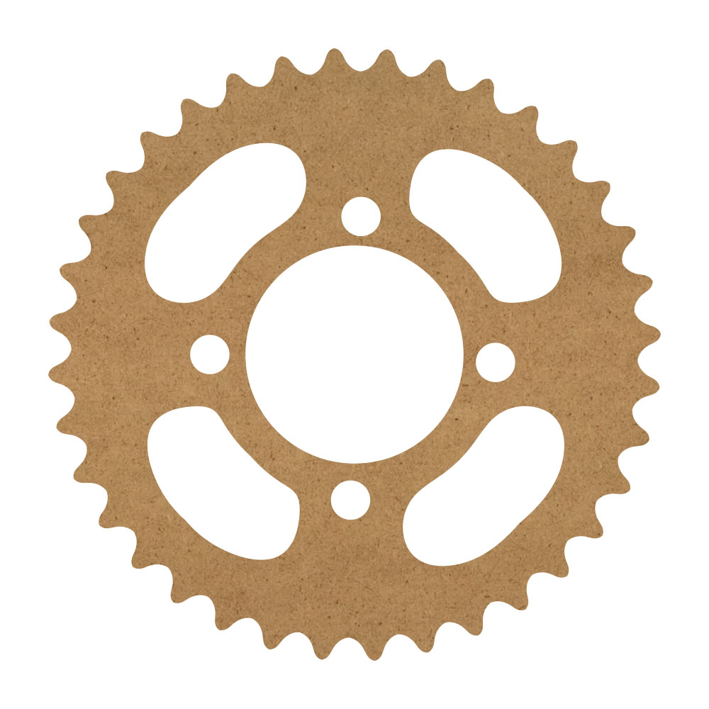 "Mechanical Gear Wood Surface - 14"" x 14"" - WDSF1416_3"