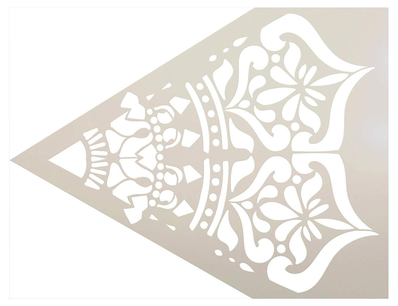 Mandala - India - Repeatable Design Stencil by StudioR12   Reusable Mylar Template   Use to Paint Wood Signs - Pallets - Pillows - Wall Art - Floor Tile
