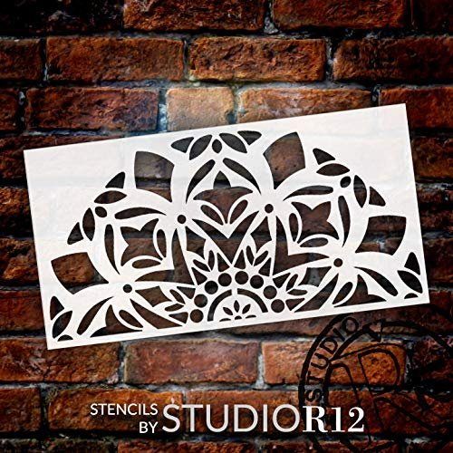 """Mandala - Snow - Half Design Stencil by StudioR12 