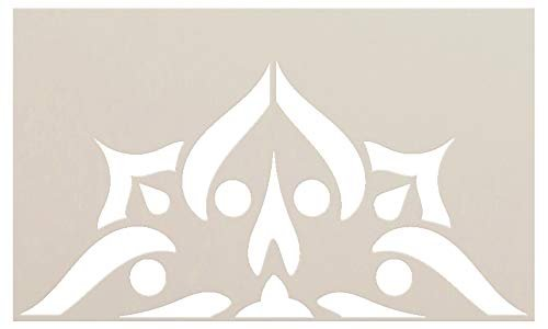 Mandala - Spades - Half Design Stencil by StudioR12   Reusable Mylar Template   Use to Paint Wood Signs - Pallets - Pillows - Wall Art - Floor Tile - Select Size