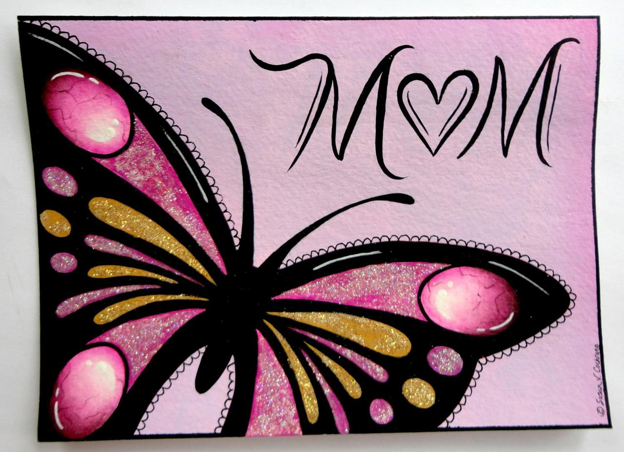 Mom Zentangle Card - E-Packet - Susan Cochrane