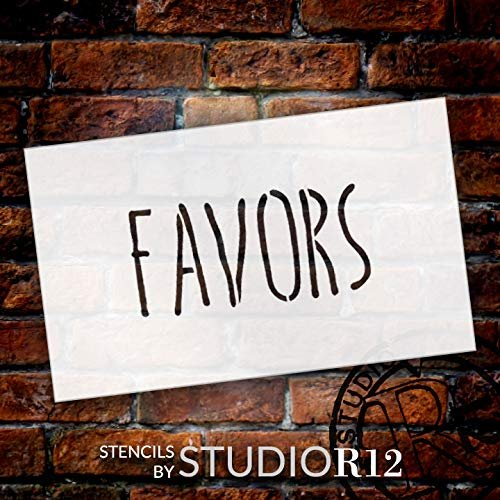 Wedding Sign Word - Favors - Skinny Hand Stencil by StudioR12 | Reusable Mylar Template | Use to Paint Wood Signs - Pallets - Pillows - DIY Wedding Decor - Select Size