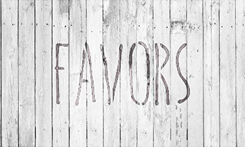 Wedding Sign Word - Favors - Skinny Hand Stencil by StudioR12   Reusable Mylar Template   Use to Paint Wood Signs - Pallets - Pillows - DIY Wedding Decor - Select Size