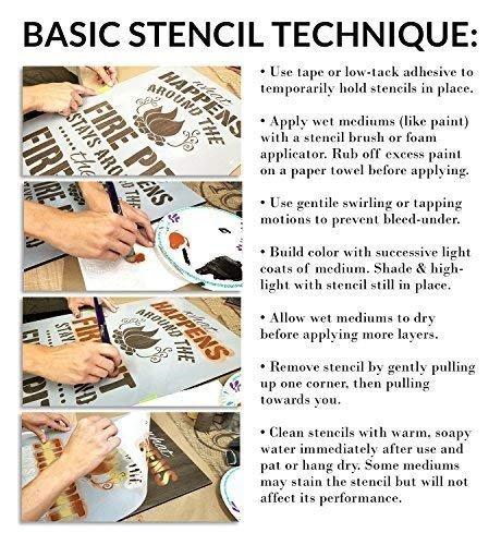 Multimedia Hexagon Tri-View Stencil StudioR12 | Wood Sign | Reusable Mylar Template | Wall Decor | Multi Layering Art Project | Journal Art Deco | DIY Home - Choose Size