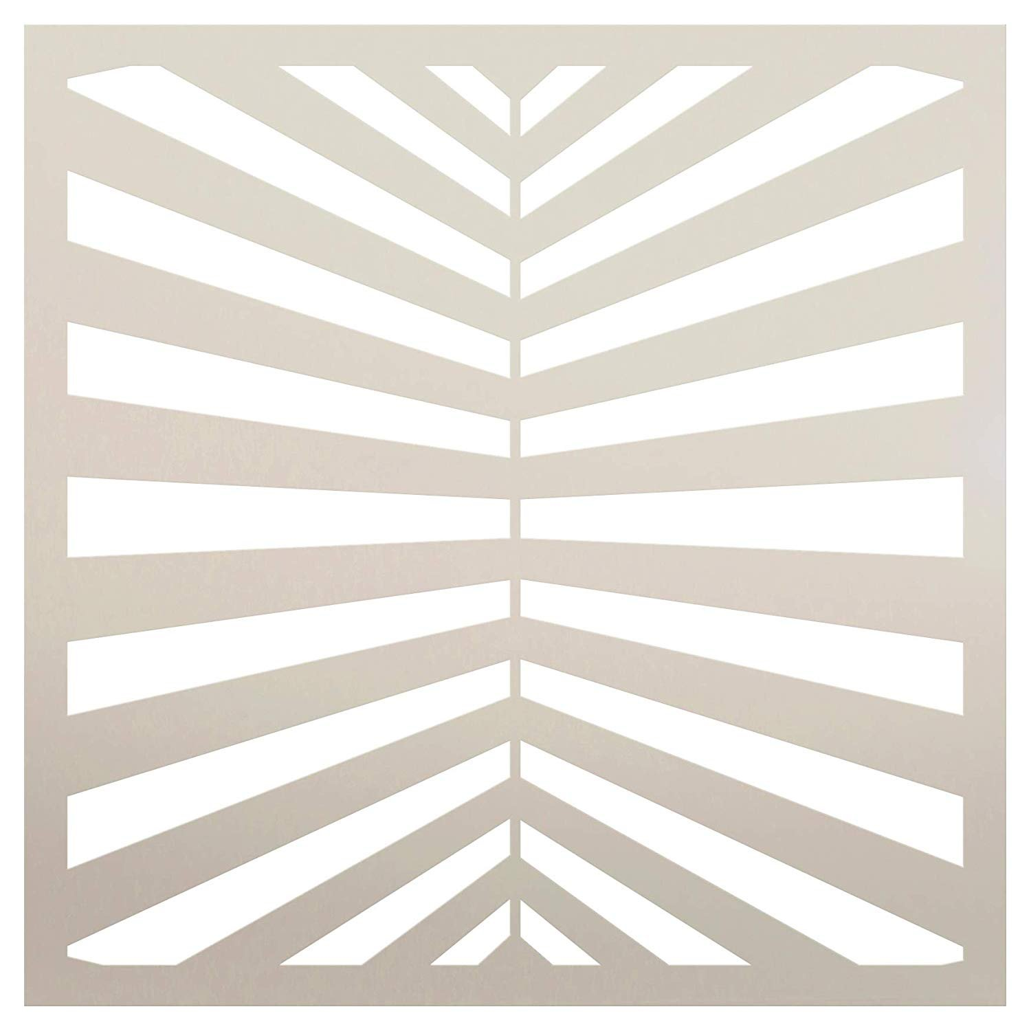Fun with Stripes Multimedia Perspective Stripe Stencil StudioR12 | Wood Sign | Reusable Mylar Template | Wall Decor | Multi Layering Art Project | Journal Art Deco | DIY Home - Choose Size
