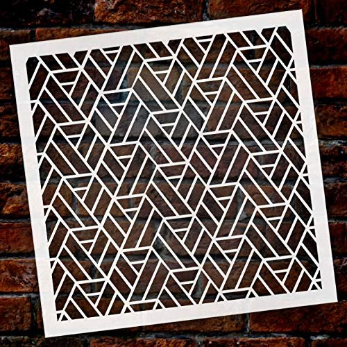 Fun with Shapes Multimedia Hexagon Quarter View Stencil StudioR12 | Wood Sign | Reusable Mylar Template | Wall Decor | Multi Layering Art Project | Journal Art Deco | DIY Home - Choose Size