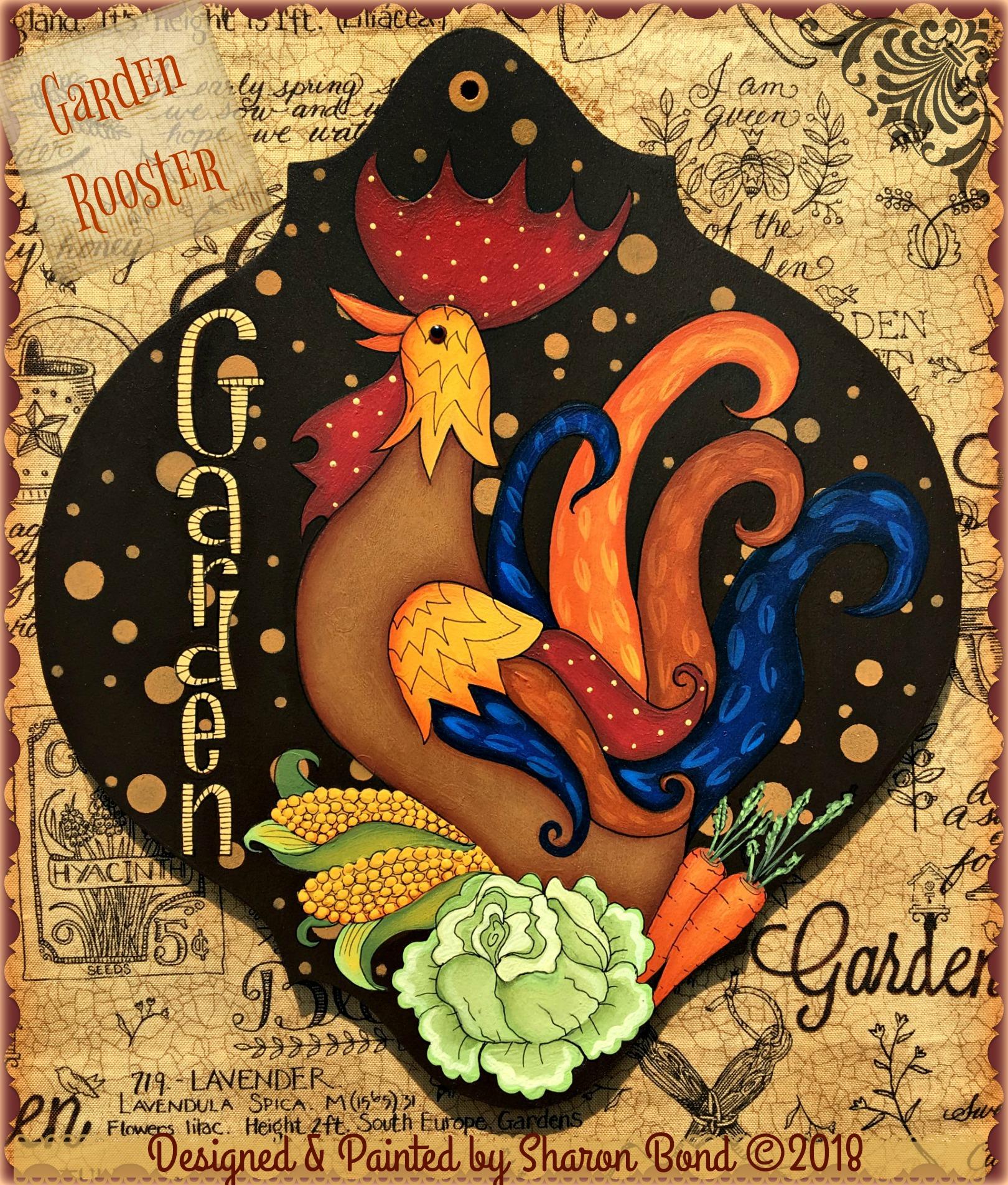 Garden Rooster - E-Packet - Sharon Bond