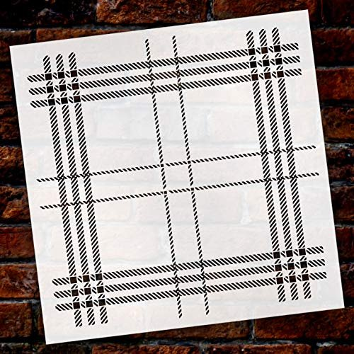 London Plaid 2-Part Stencil by StudioR12 | Wood Signs | Word Art Reusable | Family Dining Room | Painting Chalk Mixed Multi-Media | DIY Home - Choose Size