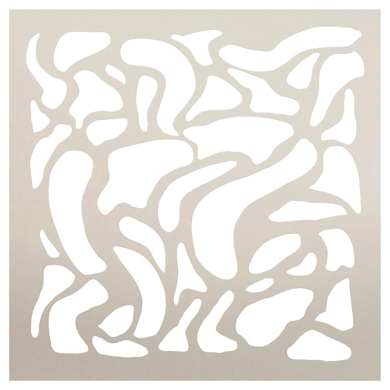 Multimedia Liquid Diversion Water Nautical Stencil StudioR12 | Wood Sign | Reusable Mylar Template | Wall Decor | Multi Layering Art Project | Journal Art Deco | DIY Home - Choose Size
