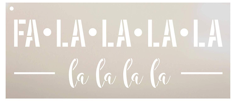 FA La La La Stencil by StudioR12  Reusable Mylar Template | Use to Paint Wood Signs - Pallets - Wall - Pillows - DIY Christmas Decor - Select Size