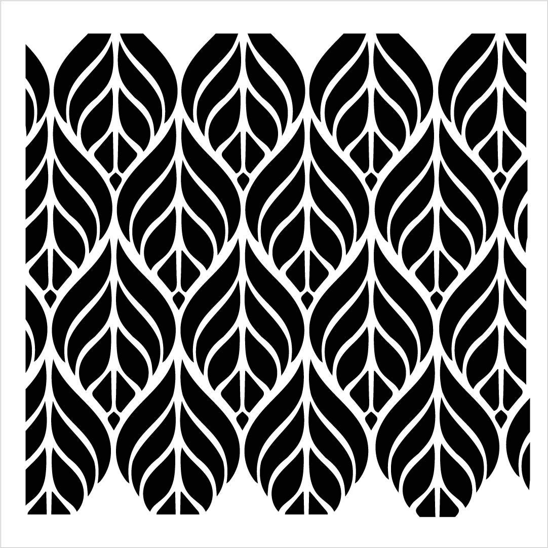 Fun with Shapes Abstract Leaf Nature Stencil StudioR12 | Wood Sign | Reusable Mylar Template | Wall Decor | Multi Layering Art Project | Journal Art Deco | DIY Home - Choose Size