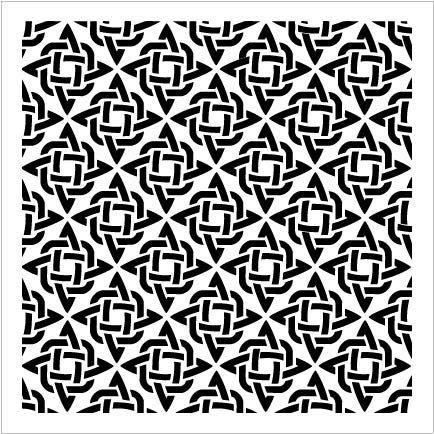 StudioR12 Mixed Media Stencil Diamond Knot Pattern | DIY Card-Making Crafting Bullet Journal | Select Size