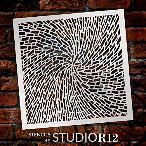 StudioR12 Mixed Media Stencil Vortex Swirl Pattern | DIY Card-Making Crafting Bullet Journal | Select Size