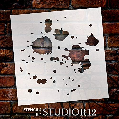 StudioR12 Mixed Media Stencil Liquid Splatter Pattern | DIY Card-Making Crafting Bullet Journal | Select Size
