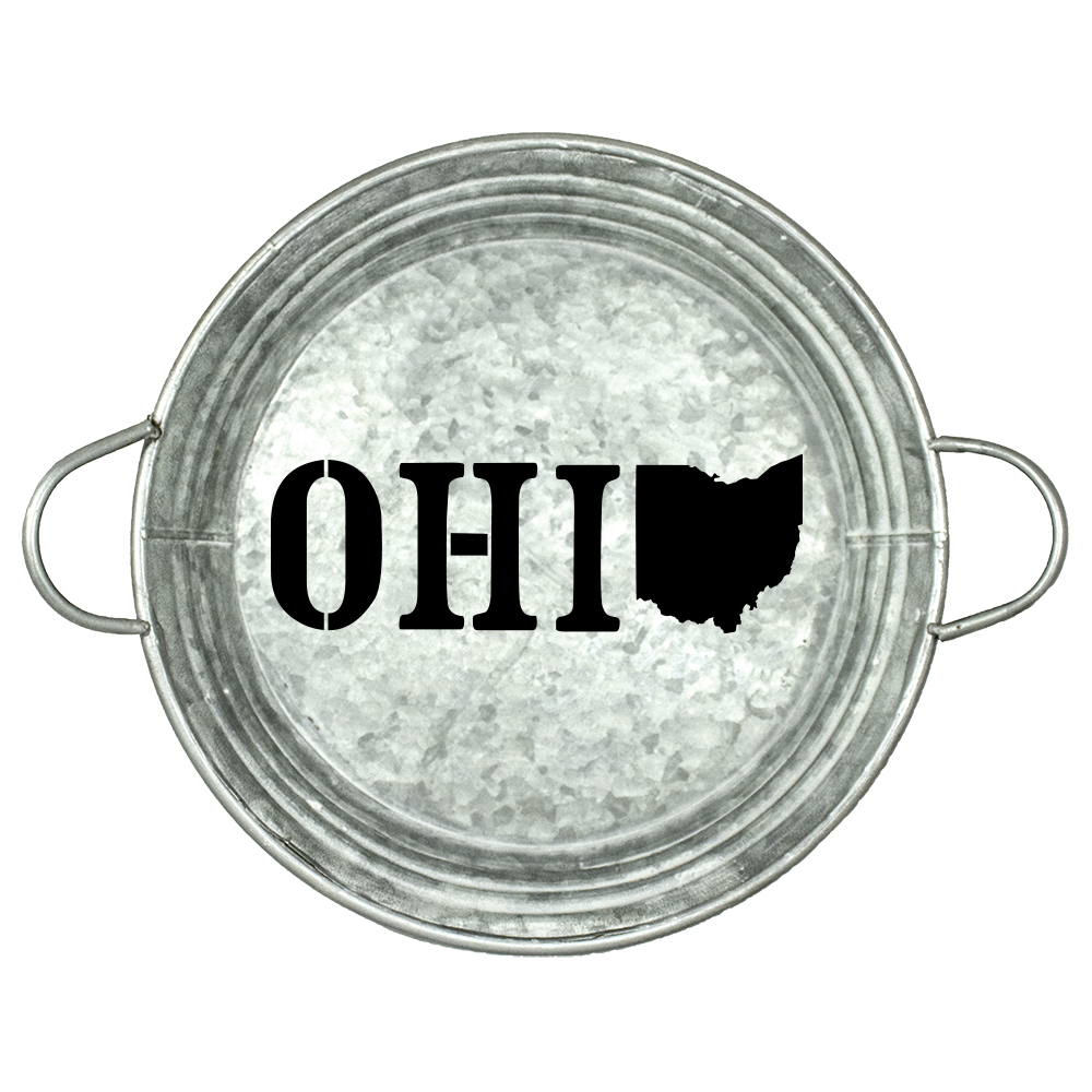 "State of Ohio Stencil |  by StudioR12 | Reusable Mylar Template | 9.5"" Round 