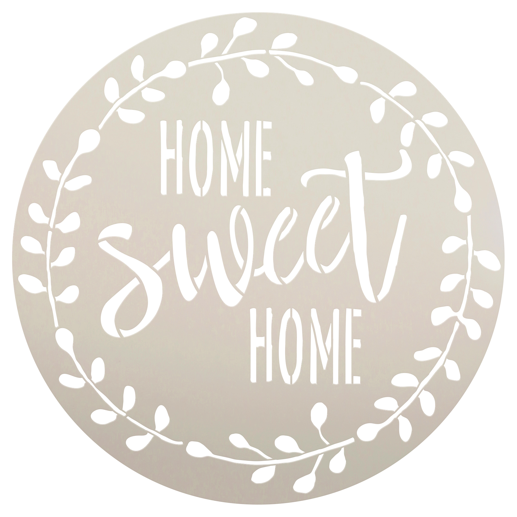 """Home Sweet Home Stencil with Laurel Wreath by StudioR12 