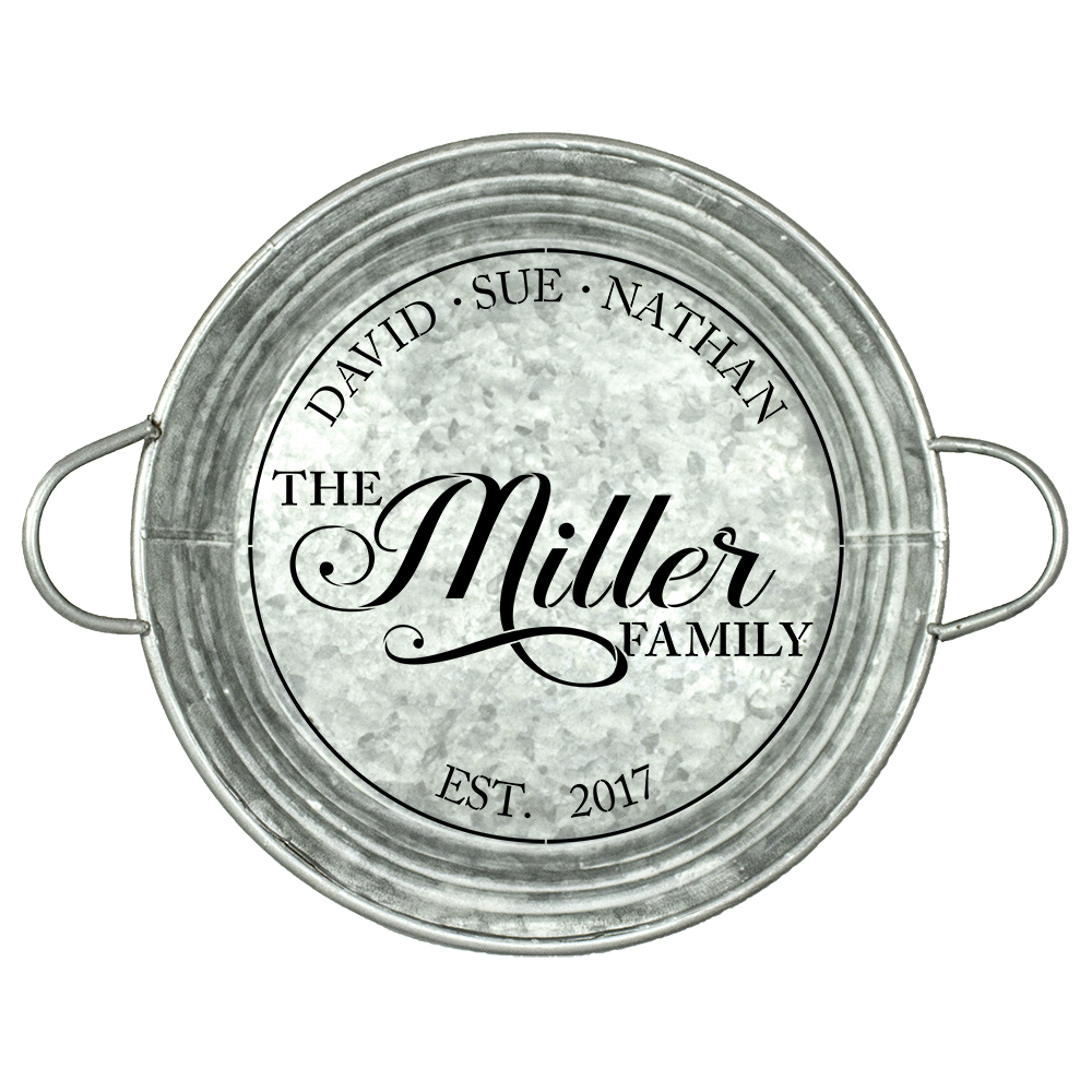 "Personalized Stencil | Family Name | Family Members| Established Date| 14"" Round 